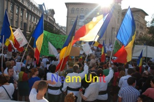 Protest pentru Rosia Montana-Neam Unit